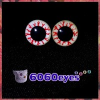 1 Pair 12mm Ghost GLOW Plastic eyes, Safety eyes, Animal Eyes, Round eyes
