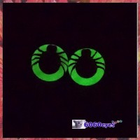 1 Pair 12mm Spider GLOW Plastic eyes, Safety eyes, Animal Eyes, Round eyes