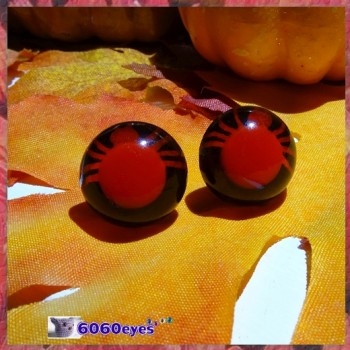 1 Pair 15mm Spider Red Plastic eyes, Safety eyes, Animal Eyes, Round eyes