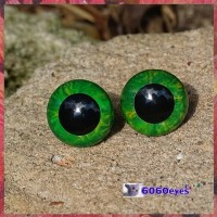 1 Pair 12mm Green Marble eyes, Safety eyes, Animal Eyes, Round eyes