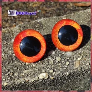 1 Pair 12mm Fire Marble eyes, Safety eyes, Animal Eyes, Round eyes