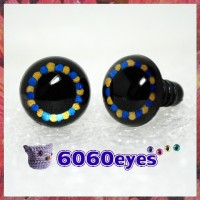 1 Pair Black Blue Gold Hand Painted Safety Eyes Plastic eyes
