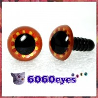 1 Pair Brown Copper Gold Hand Painted Safety Eyes Plastic eyes