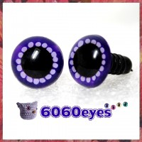 1 Pair Purple & Purple Hand Painted Safety Eyes Plastic eyes