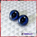 1 Pair  Hand Painted Midnight Sky Cat Eyes Plastic Eyes Safety Eyes