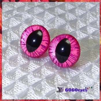 1 Pair  Hand Painted Peppermint Candy Cat Eyes Safety Eyes Plastic Eyes