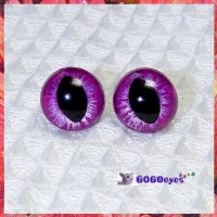 1 Pair Hand Painted Purple Frost Cat Eyes Plastic Eyes Safety Eyes