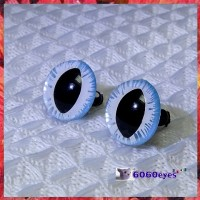 1 Pair  Hand Painted Icicle Cat Eyes Safety Eyes Plastic Eyes
