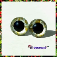 1 Pair  Hand Painted Silver and Gold Eyes Plastic Eyes Safety Eyes