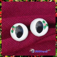 1 Pair  Hand Painted Holly Cat Eyes Plastic Eyes Safety Eyes