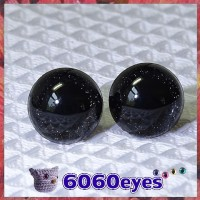 1 Pair Black Glitter Hand Painted Safety Eyes Plastic eyes