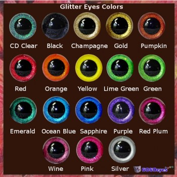 5 Pair YOUR CHOICE Glitter Hand Painted Safety Eyes Plastic eyes