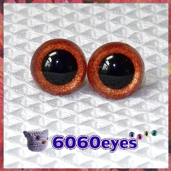 1 Pair Pumpkin Glitter Hand Painted Safety Eyes Plastic eyes