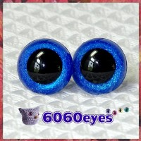 1 Pair Sapphire Glitter Hand Painted Safety Eyes Plastic eyes