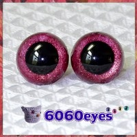 1 Pair Red Wine Glitter Hand Painted Safety Eyes Plastic eyes