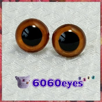 1 Pair  Hand Painted Pumpkin Spice Eyes Plastic Eyes Safety Eyes