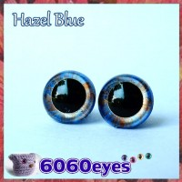 1 Pair 12mm Hazel Blue eyes, Safety eyes, Animal Eyes, Round eyes