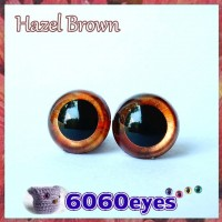 1 Pair 12mm Hazel Brown eyes, Safety eyes, Animal Eyes, Round eyes