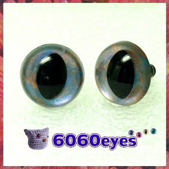 1 Pair Hand Painted Metallic Mist Cat Eyes Safety Eyes Plastic Eyes