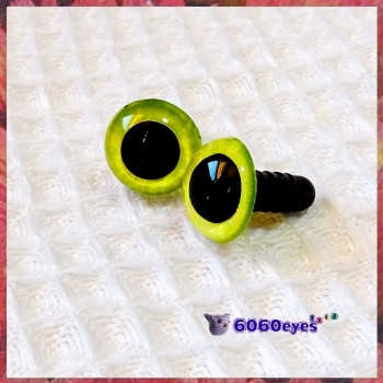 1 Pair Butter and Eggs Hand Painted Safety Eyes