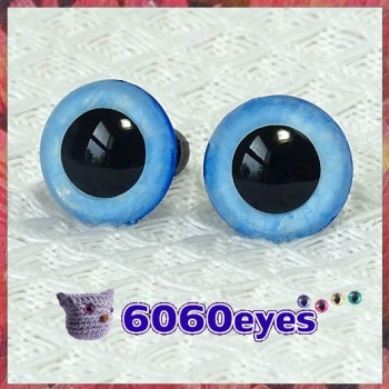 1 Pair Morning Glory Hand Painted Safety Eyes