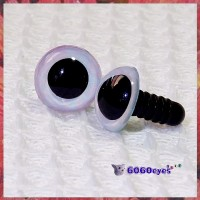 1 Pair Pink and Blue Hand Painted Safety Eyes