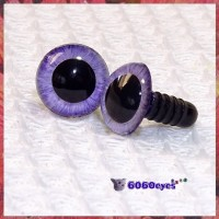 1 Pair Purple Lilac Hand Painted Safety Eyes
