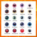 5 Pairs 10.5mm CUSTOM PEARLTALLIC  Amigurumi eyes, Plastic eyes, Safety eyes, Animal Eyes, Round eyes