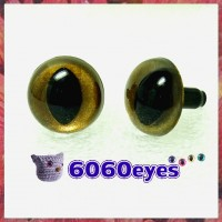 1 Pair Burnt Gold Hand Painted Safety Eyes Plastic eyes