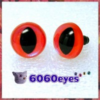 1 Pair Red Shimmer Painted Safety Eyes Plastic eyes