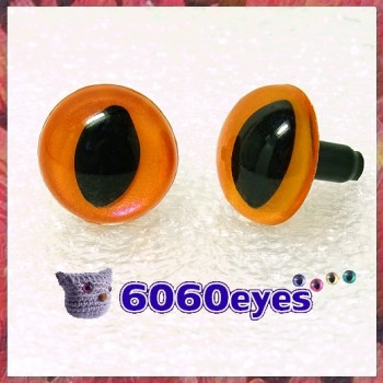 1 Pair Orange Frost Hand Painted Safety Eyes Plastic eyes