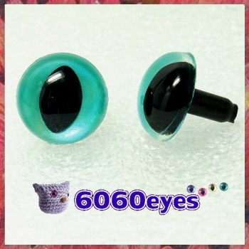 1 Pair Aquamarine Blue Hand Painted Safety Eyes Plastic eyes Animal eyes Amigurumi eyes