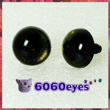 1 pair Brassy Black Hand Painted Safety Eyes Plastic eyes Animal eyes Amigurumi eyes