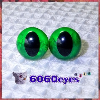 1 Pair Maleficent Hand Painted Safety Eyes