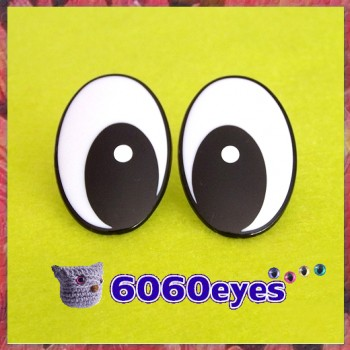 25mm Comical Plastic eyes, Safety eyes, Animal Eyes, Oval eyes 2 PAIRS